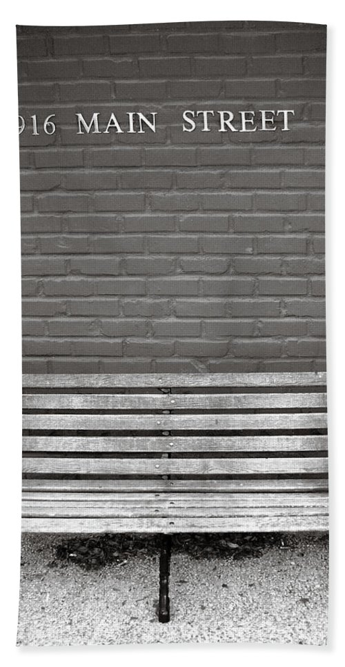 Americana Bath Sheet featuring the photograph Main Street Usa by Marilyn Hunt