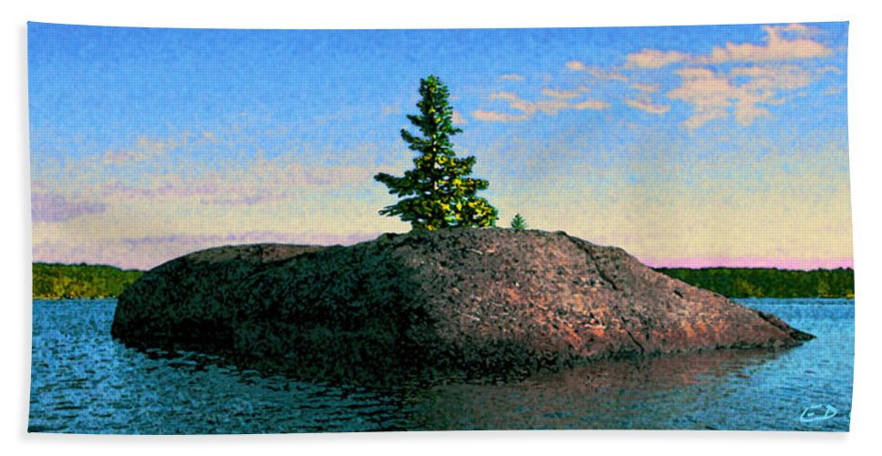 Maine Bath Sheet featuring the photograph Maine Stone Island Sunrise by Ed A Gage