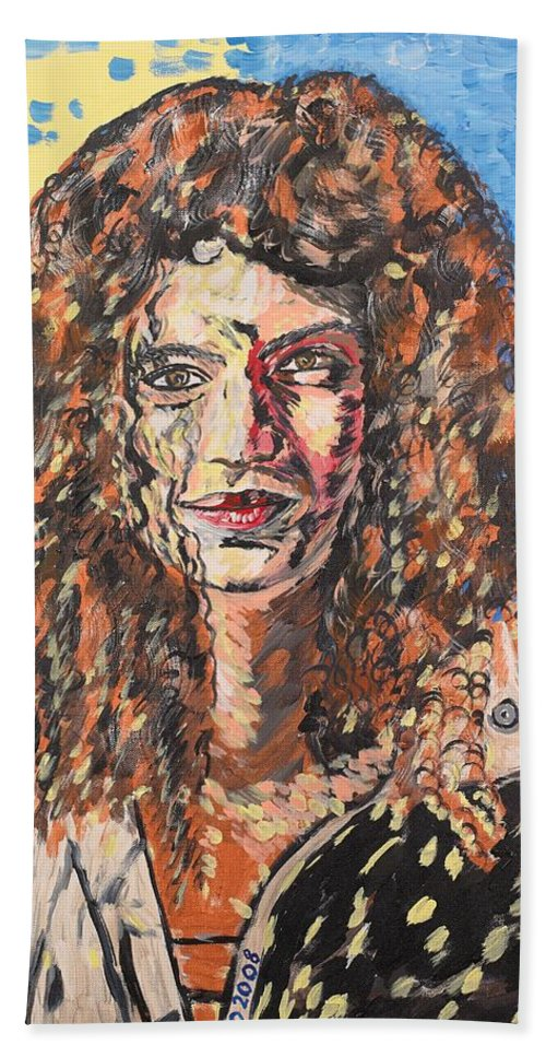 Human Bath Towel featuring the painting Maja by Valerie Ornstein
