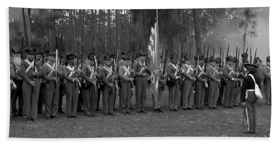 Dade Battlefield Hand Towel featuring the photograph Major Dade's Men by David Lee Thompson