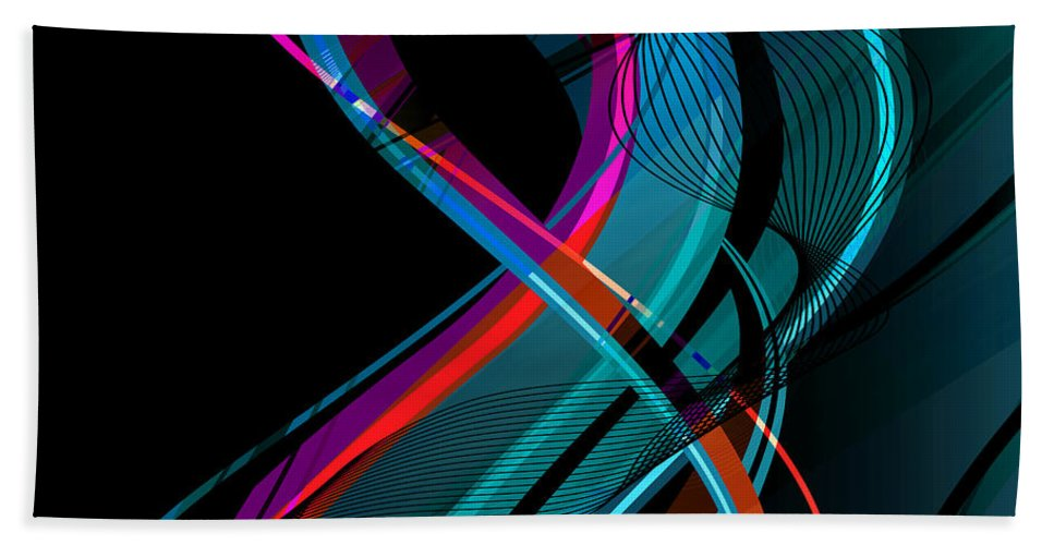 Make Hand Towel featuring the digital art Making Music 1-2 by Angelina Vick