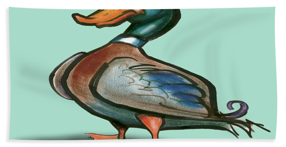 Duck Bath Sheet featuring the digital art Mallard Duck by Kevin Middleton