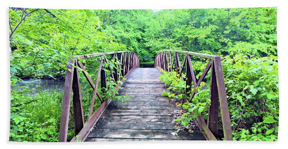 Bridge Bath Sheet featuring the photograph Mallory Bridge by Bonfire Photography