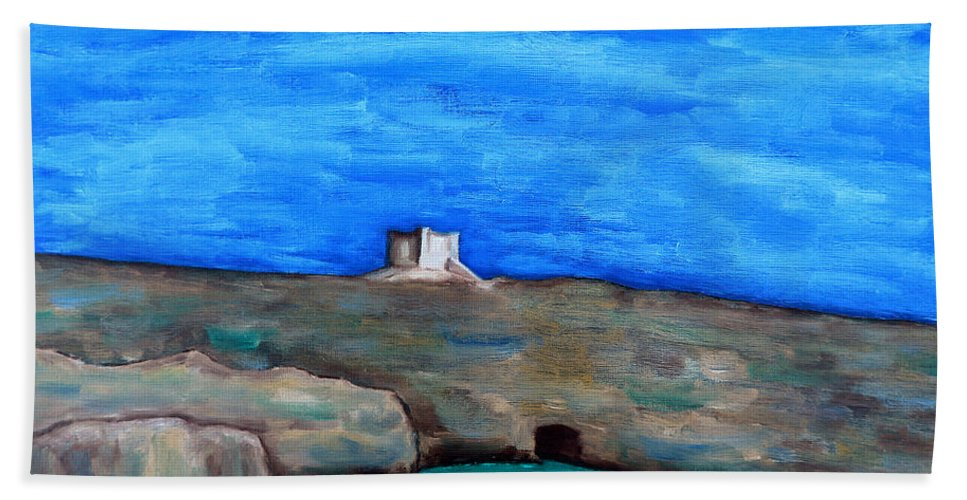 Fine Art Hand Towel featuring the painting Malta 4 by Patrick J Murphy