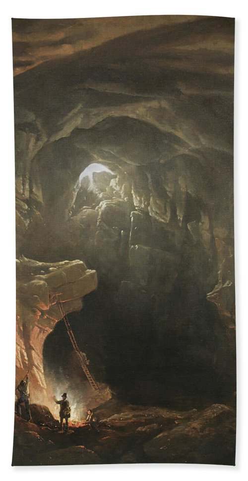Mammoth Cave Hand Towel featuring the painting Mammoth Cave by Francis