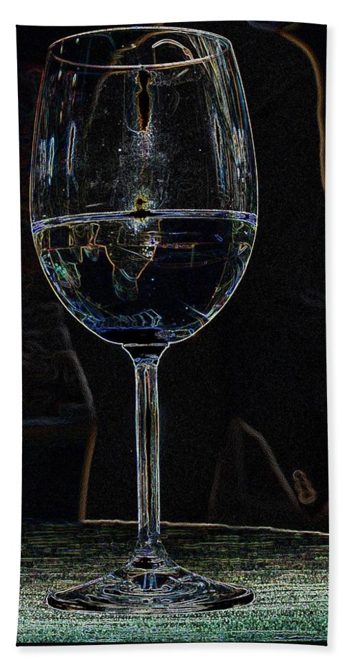 Wine Hand Towel featuring the photograph Man In A Glass by Ian MacDonald