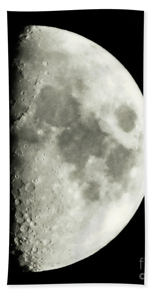 Lunar Bath Sheet featuring the photograph Man In The Moon by September Stone