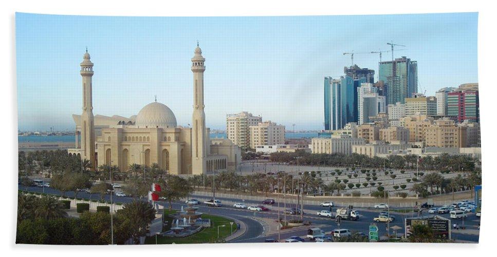 Manama Bahrain Bath Sheet featuring the photograph Manama Bahrain by Kenneth Lempert