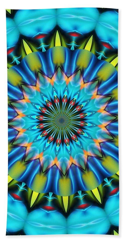 Mandala Bath Sheet featuring the digital art Mandala 111511 A by David Lane