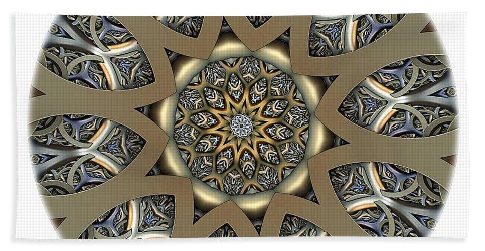 Talisman Bath Sheet featuring the digital art Mandala - Talisman 1434 by Marek Lutek