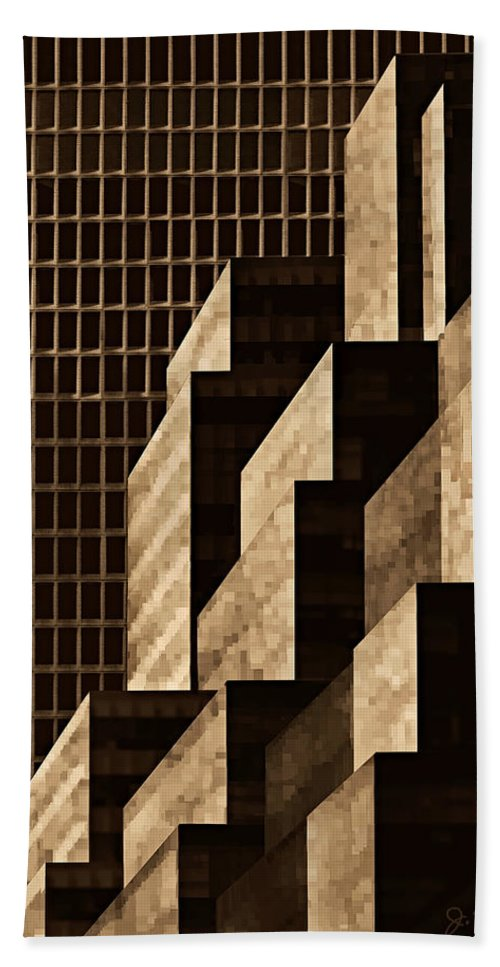 New York Hand Towel featuring the digital art Manhattan No. 3 by Joe Bonita
