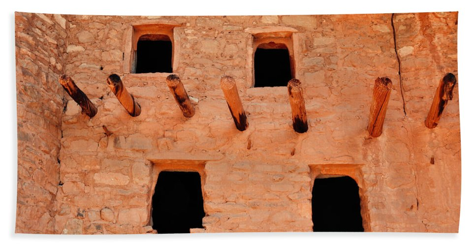 Manitou Cliff Dwellings Hand Towel featuring the photograph Manitou Cliff Dwellings Colorado Springs by Kyle Hanson