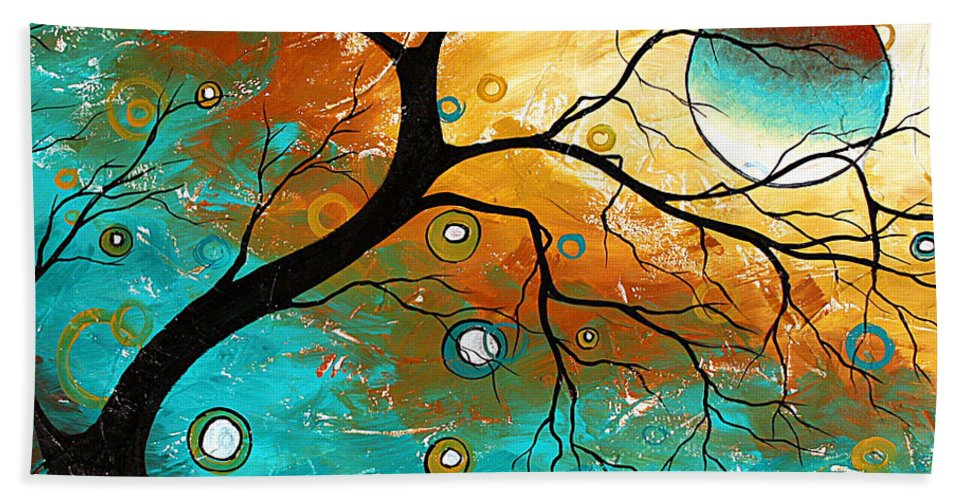 Art Hand Towel featuring the painting Many Moons Ago By Madart by Megan Duncanson
