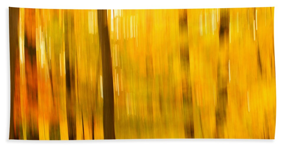 Abstract Photo Hand Towel featuring the photograph Maple Magic by Bill Morgenstern