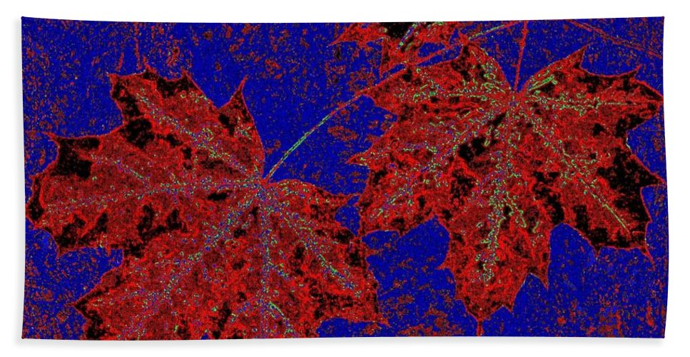 Cheerful Bath Towel featuring the digital art Maple Mania 15 by Will Borden