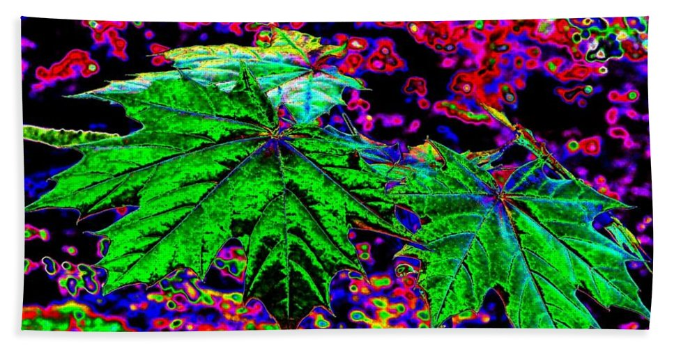 Maple Leaves Hand Towel featuring the digital art Maple Mania 23 by Will Borden