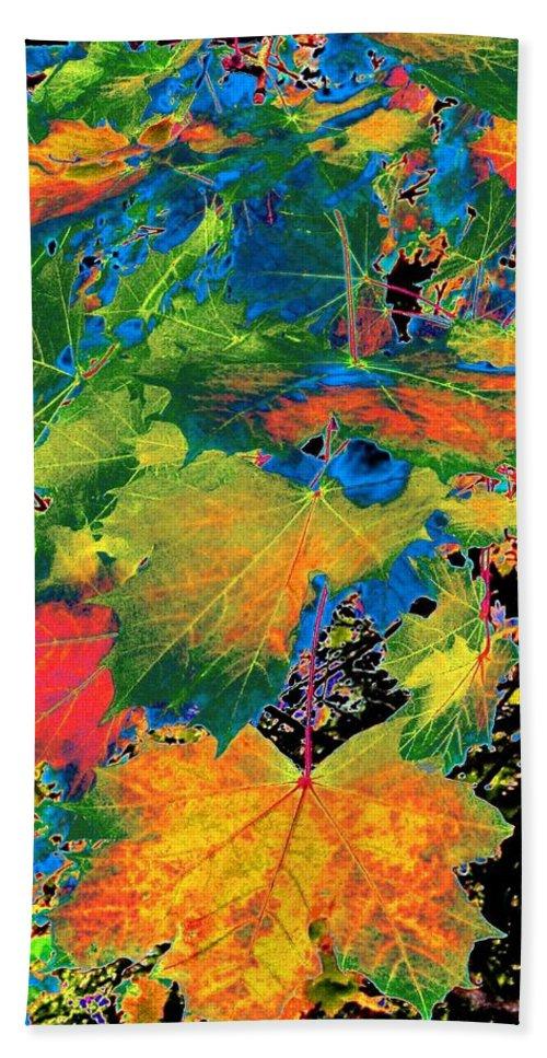 Photo Design Bath Sheet featuring the digital art Maple Mania 3 by Will Borden