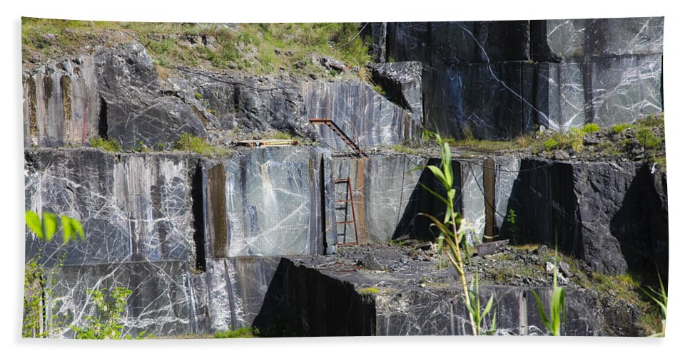 Italy Bath Sheet featuring the photograph Marble Quarry by Vladi Alon