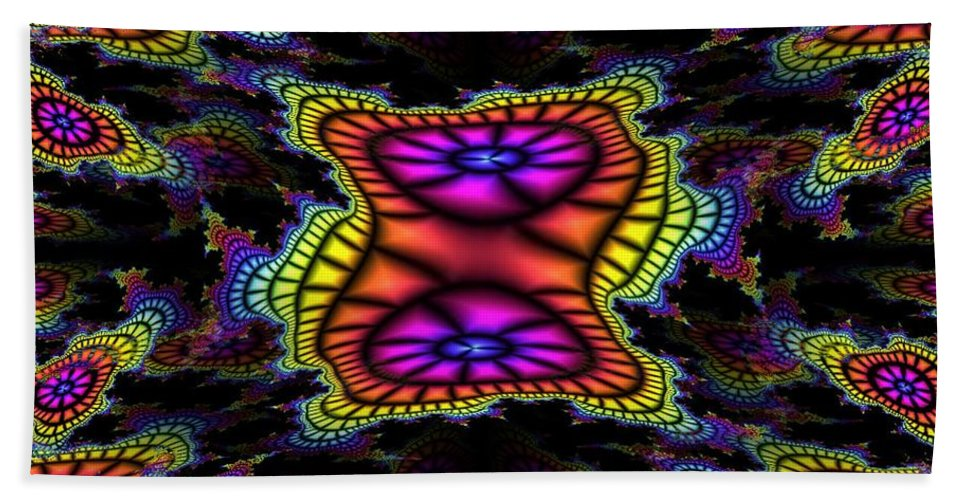 Mardi Gras Hand Towel featuring the photograph Mardi Gras Fractal by Tim Allen