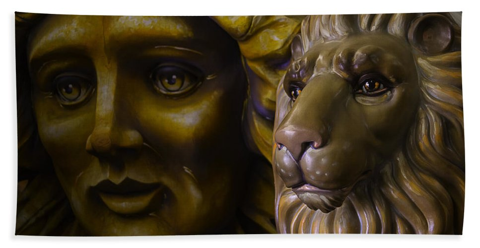 Mardi Gras Hand Towel featuring the photograph Mardi Gras Lion by Garry Gay