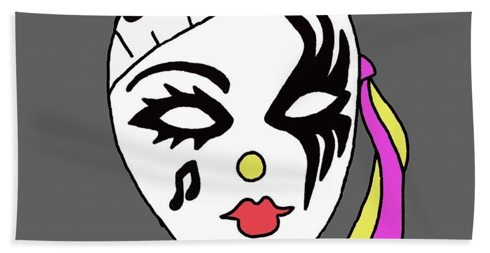 Mardi Gras Mask Hand Towel featuring the digital art Mardi Gras Mask by Priscilla Wolfe