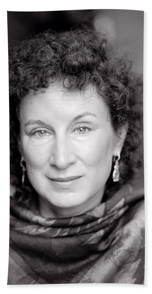 Margaret Atwood Hand Towel featuring the photograph Margaret Atwood by Shaun Higson