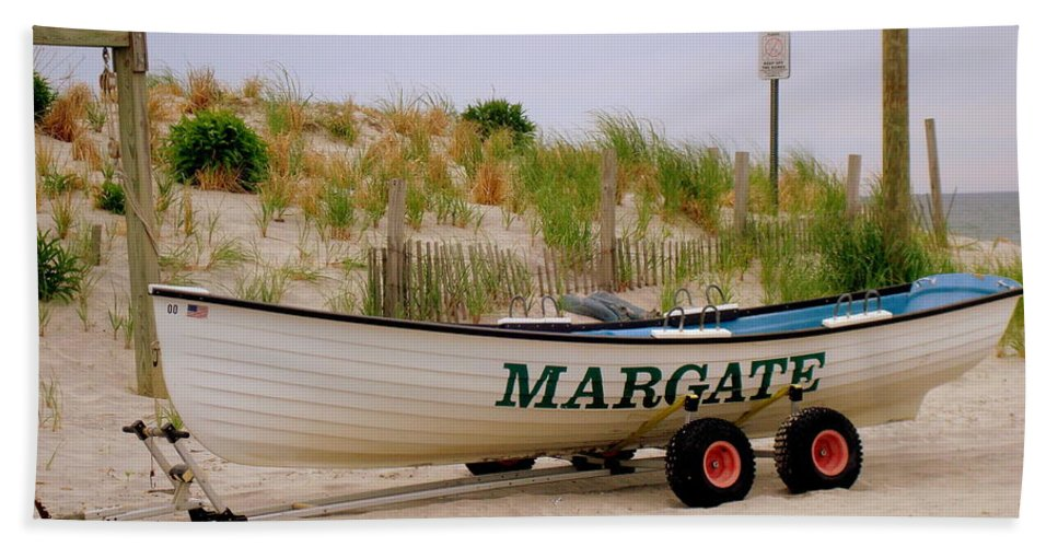 Beach Bath Sheet featuring the photograph Margate Beach by Arlane Crump