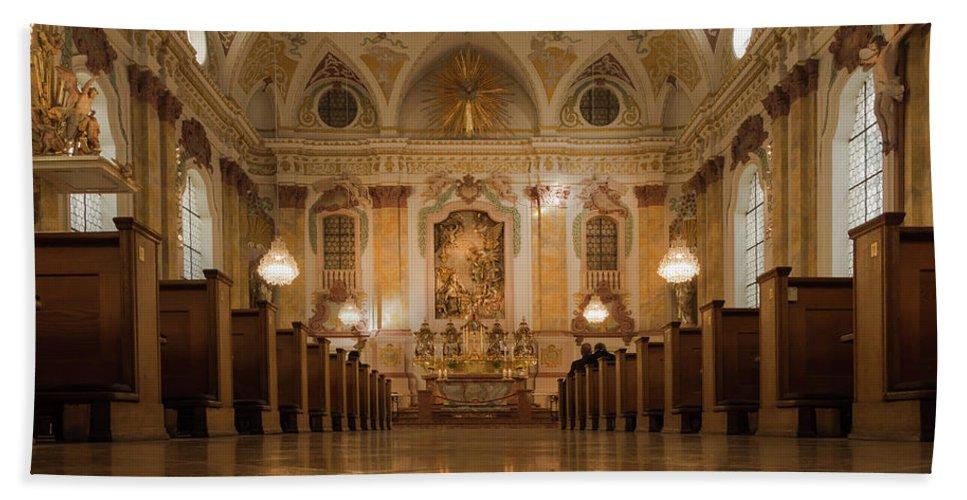Munich Bath Sheet featuring the photograph Marianische Mannerkongregation Munich by Jebulon
