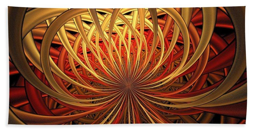 Digital Art Bath Sheet featuring the digital art Marigold by Amanda Moore
