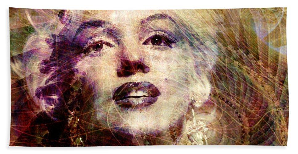 marilyn Monroe Bath Sheet featuring the digital art Marilyn by Barbara Berney