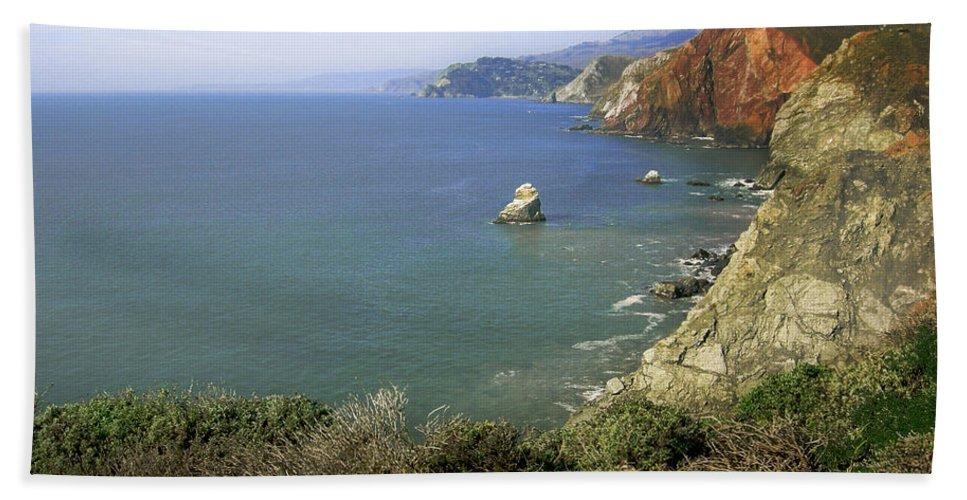 Ocean Hand Towel featuring the photograph Marin Headlands 1 by Karen W Meyer