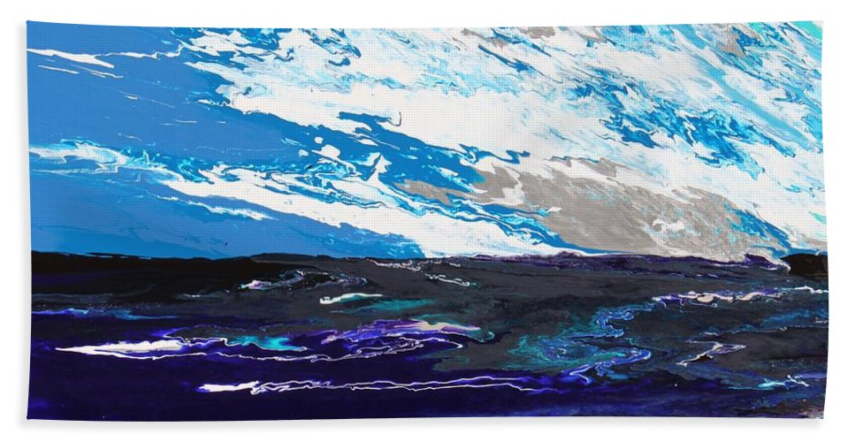 Fusionart Hand Towel featuring the painting Mariner by Ralph White
