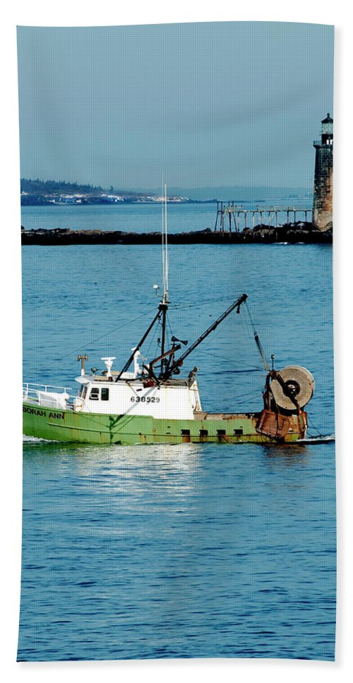 Coast Hand Towel featuring the photograph Maritime by Greg Fortier