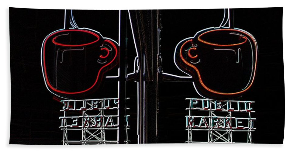 Seattle Hand Towel featuring the photograph Market Cup 3 by Tim Allen