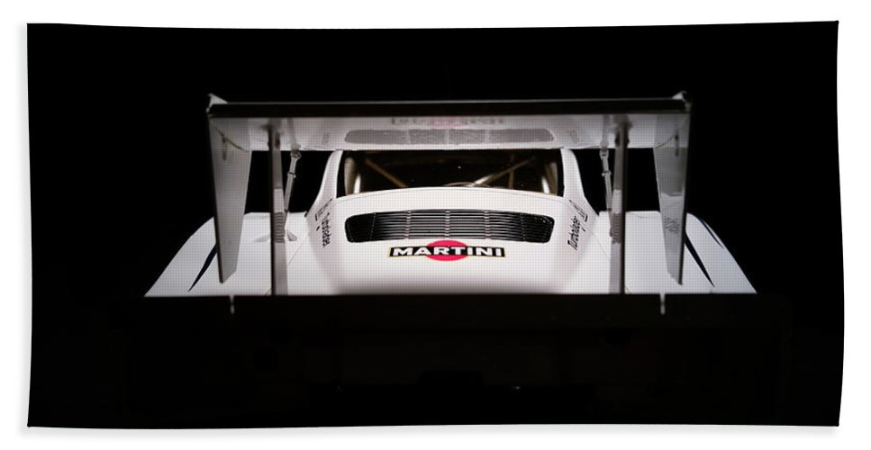 Diecast Martini Porsche 935 Racing Car Hand Towel featuring the photograph Martini Time 3 by D G Reiter