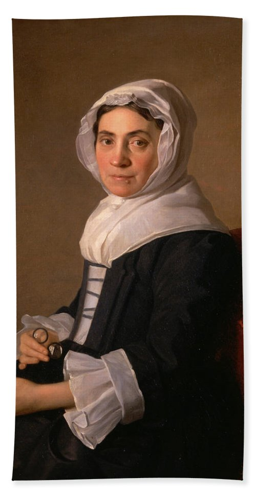 Allan Ramsay Hand Towel featuring the painting Mary Adam by Allan Ramsay