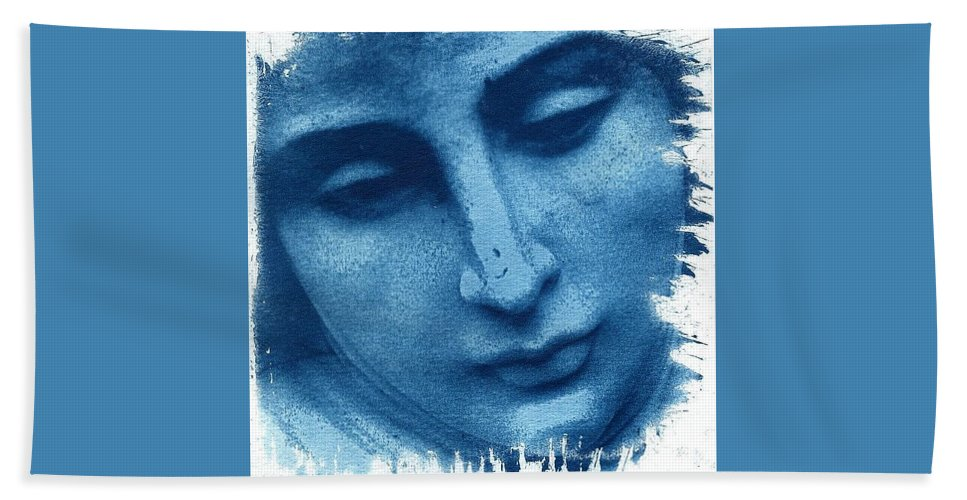 Blue Bath Sheet featuring the photograph Marys Blues by Jane Linders