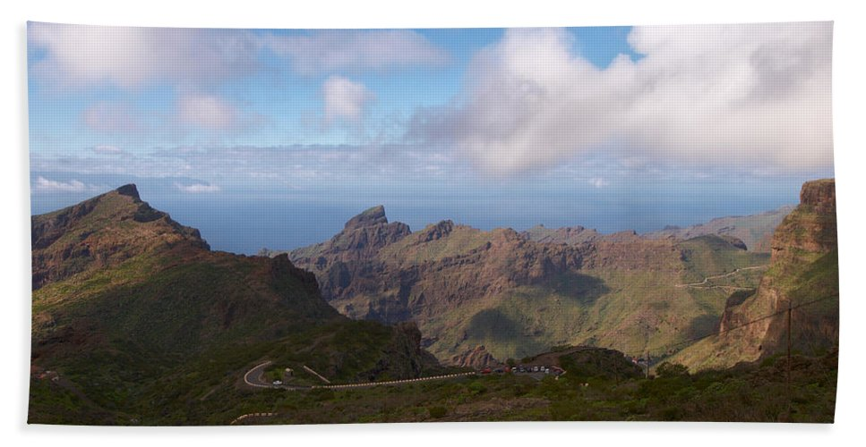 Landscape Hand Towel featuring the photograph Masca Valley And Parque Rural De Teno by Jouko Lehto
