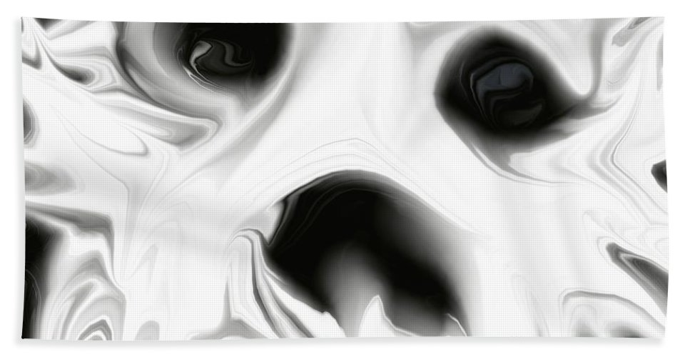 White Bath Sheet featuring the digital art Mask by Tammie Sisneros
