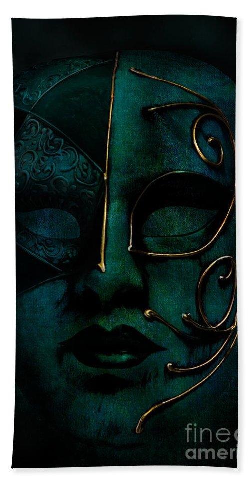 Mask Bath Sheet featuring the photograph Masquerade by Ann Garrett