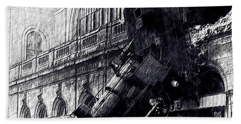 Locomotive - Railroad Train - Smoke - Wagons - Rails - Iron - Steel - Decoration - Railway - Machine - -veiculo Engine - Transport - Travel Hand Towel featuring the digital art Masterless by Lyriel Lyra