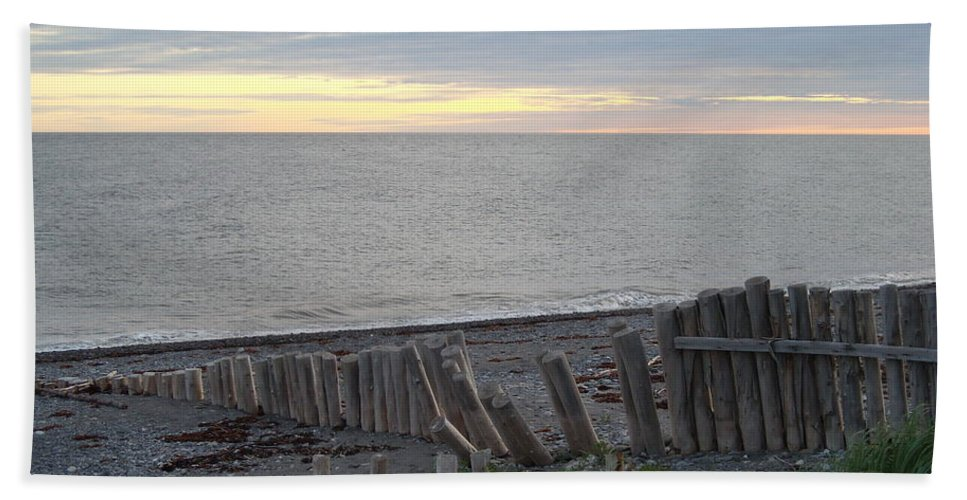Seascape Bath Towel featuring the photograph Matane In The Morning... by Line Gagne