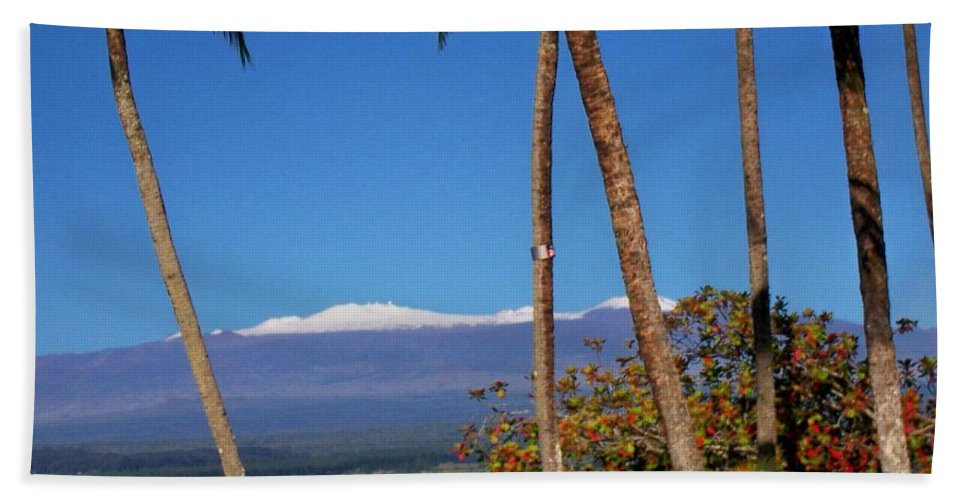 Hawaii Hand Towel featuring the photograph Mauna Kea by Dina Holland