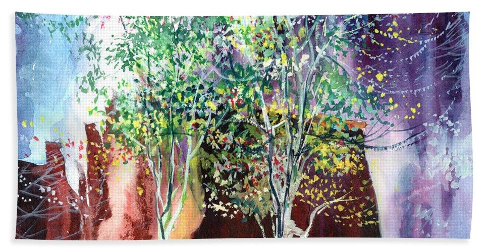 Nature Bath Sheet featuring the painting Maya by Anil Nene