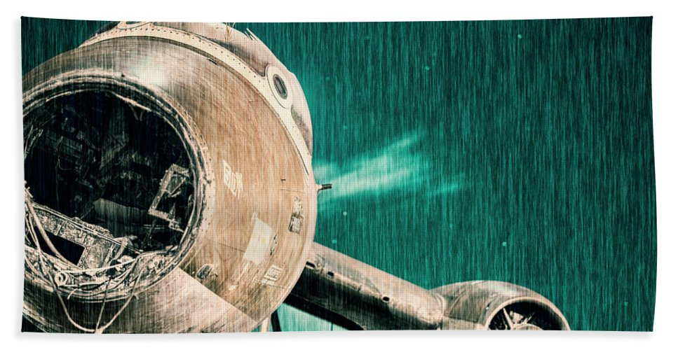 Aircraft Bath Sheet featuring the photograph Mayday Mayday by Rob D