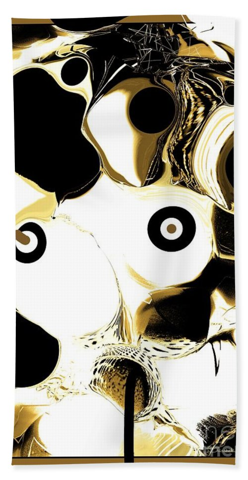 Abstract Hand Towel featuring the digital art Mdm. X by Elisabeth Skajem Atter