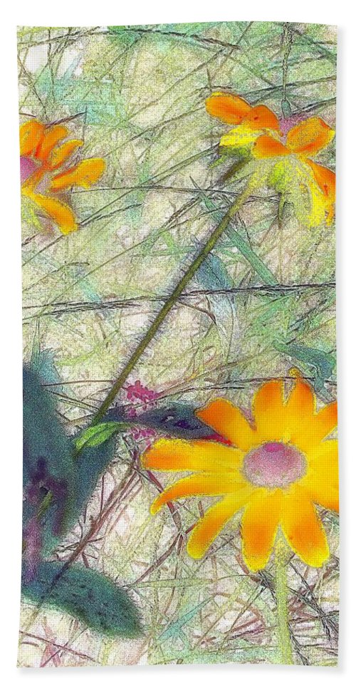 Bright Hand Towel featuring the painting Meadow Out Loud by RC DeWinter