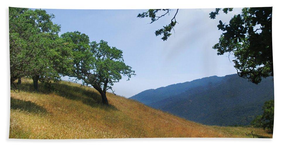 Landscape Bath Towel featuring the photograph Meadow View Summer by Karen W Meyer