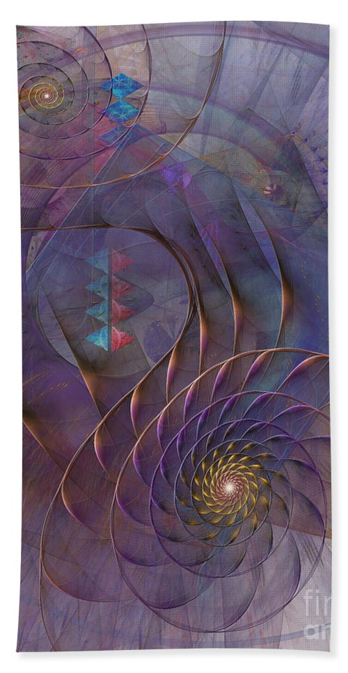 Meandering Acquiescence Hand Towel featuring the digital art Meandering Acquiescence by John Beck