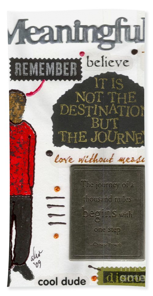 Gretting Cards Bath Sheet featuring the mixed media Meaningful by Angela L Walker